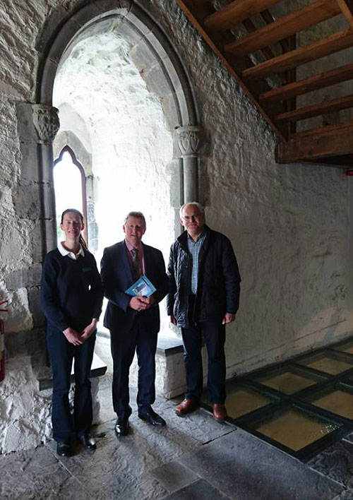 Athenty Castle Visit by Minister Sean Canney TD Galway East