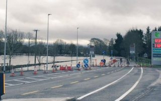 Canney welcomes flood relief works at Labane