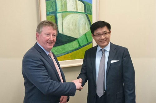 Minister Canney meets with Ambassador Yue Xiaoyong