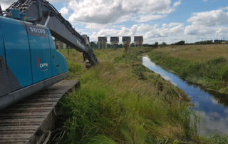 OPW channel cleaning and riverbank works