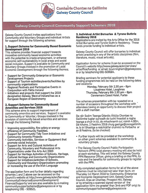 Community Support Schemes 2018 Application Forms