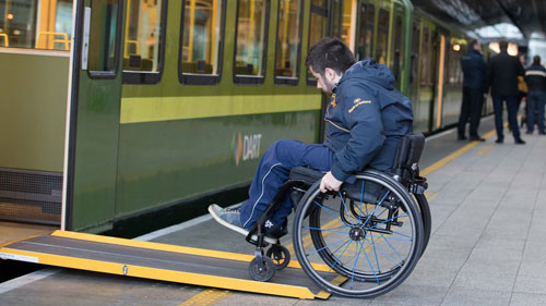 Better representation for disabled people on public transport boards