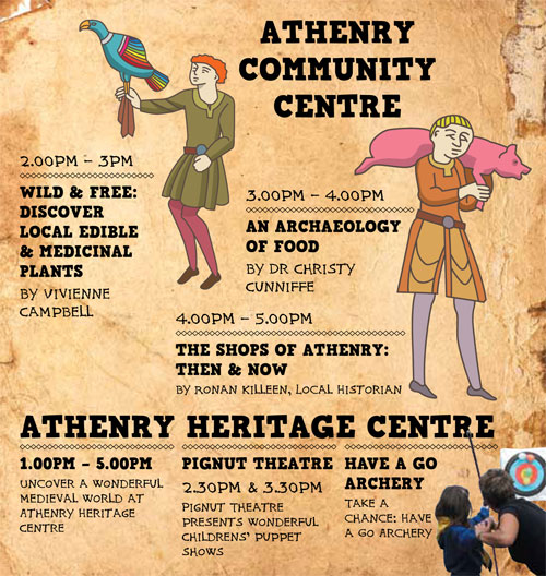 Athenry Walled Town Day Sunday 19th August 2018 1pm – 5pm.