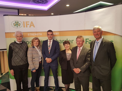 Sean Canney concerned over Beef prices at IFA briefing.