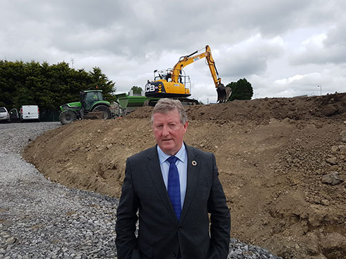 CONSTRUCTION UNDER WAY AT ST OLIVER'S SCHOOL, TUAM