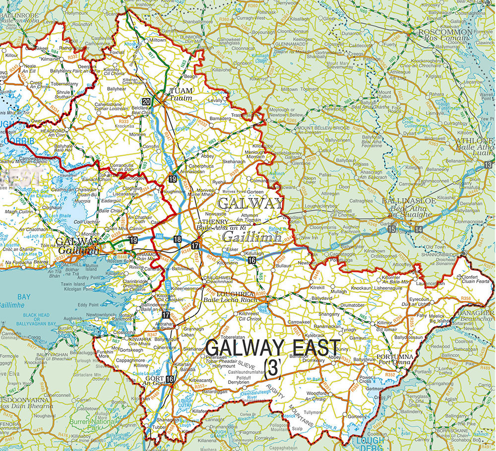 Galway East constituency map