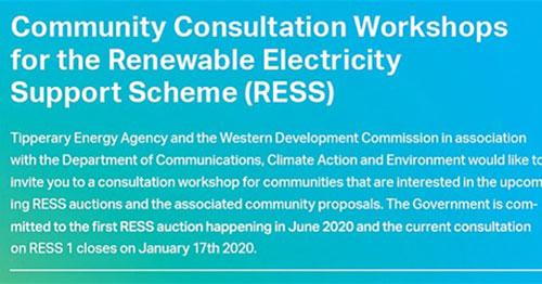 RENEWABLE ENERGY SUPPORT SCHEME WORKSHOP IN BALLINASLOE