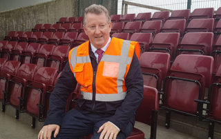 Tuam Stadium visit by Sean Canney TD