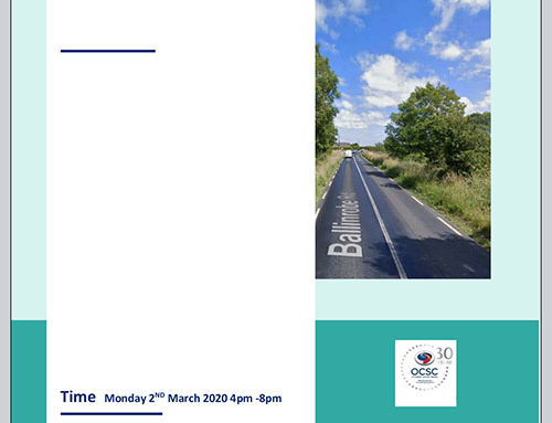 PUBLIC CONSULTATION ON KILBANNON ROAD REALIGNMENT