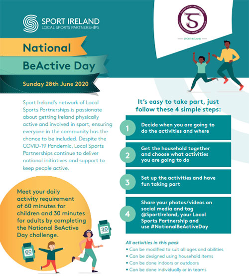 SUPPORT NATIONAL BE ACTIVE DAY