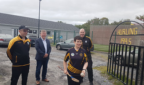Welcome funding for a LEADER project for Sylane Hurling Club